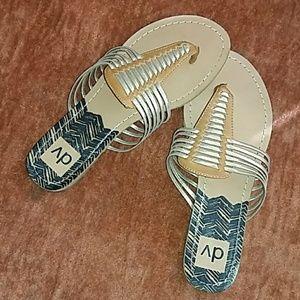 DV gold & warm brown sandals